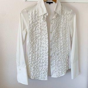 Gorgeous BCBG maxazria ruffle front blouse